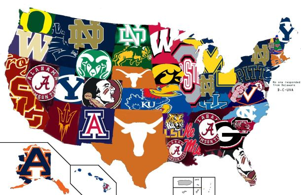 College Football Rankings By State AM This Poll Makes Sense State