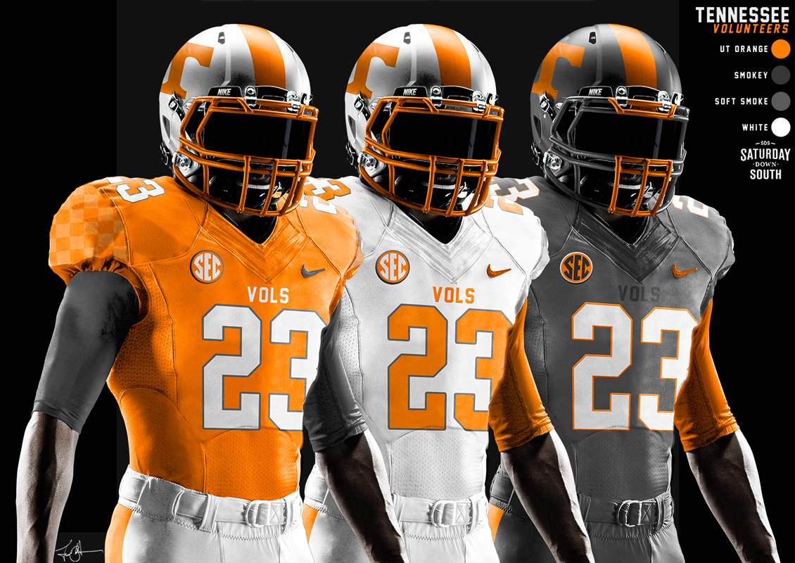 2015 Tennessee Nike uniform, helmet concepts