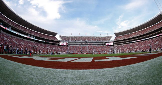 Oct 18, 2014; Tuscaloosa, AL, USA; A general view of Bryant-Denny Stadium during the game between Alabama and Texas A&M. The Crimson Tide defeated the Aggies 59-0. Mandatory Credit: Marvin Gentry-USA TODAY Sports