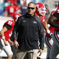 Nov 1, 2014; Jacksonville, FL, USA; Georgia Bulldogs head coach Mark Richt against the Florida Gators prior to the game at EverBank Field. Mandatory Credit: Kim Klement-USA TODAY Sports