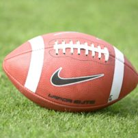 Mar 11, 2014; Los Angeles, CA, USA; General view of a Nike vapor elite football at Southern California Trojans spring practice at Howard Jones Field. Mandatory Credit: Kirby Lee-USA TODAY Sports