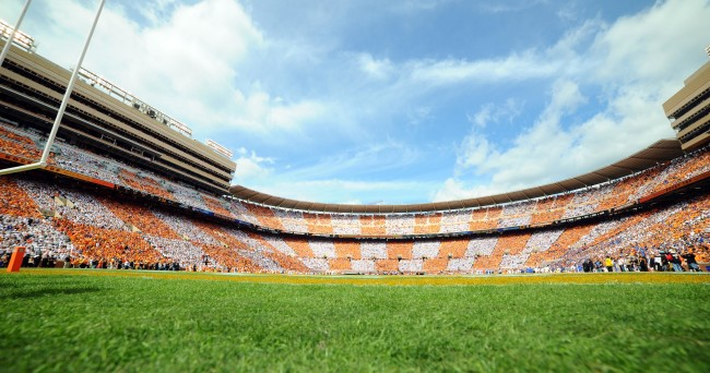 Oct 4, 2014; Knoxville, TN, USA; General view of Neyland Stadium during the game between the Florida Gators and Tennessee Volunteers. Mandatory Credit: Randy Sartin-USA TODAY Sports