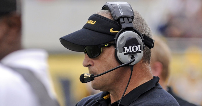 Jan 1, 2015; Orlando, FL, USA; Missouri Tigers head coach Gary Pinkel stands on the sidelines as the Missouri Tigers beat the Minnesota Golden Gophers 33-17 in the 2015 Citrus Bowl at Florida Citrus Bowl. Mandatory Credit: David Manning-USA TODAY Sports