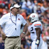 Apr 18, 2015; Auburn, AL, USA; Auburn Tigers head coach Gus Malzahn looks on during the spring game at Jordan-Hare Stadium. Mandatory Credit: Shanna Lockwood-USA TODAY Sports