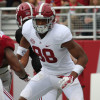Apr 18, 2015; Tuscaloosa, AL, USA; Alabama Crimson Tide tight end O.J. Howard (88) during the A-day game at Bryant Denny Stadium. Mandatory Credit: Marvin Gentry-USA TODAY Sports