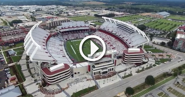Video: Drone footage high above South Carolina's Williams ...