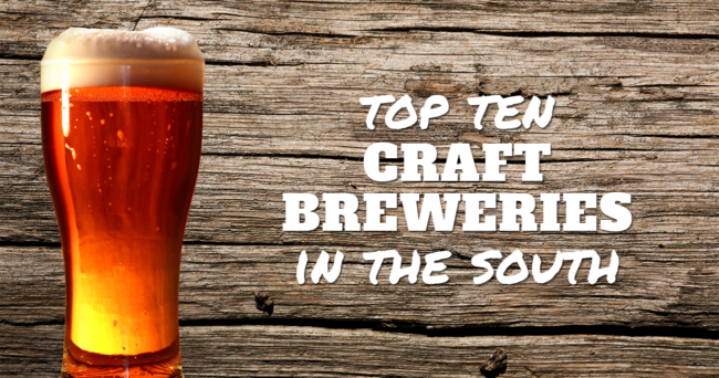 top 10 craft breweries in the south