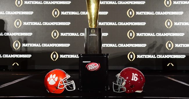 national championships college football football schedule for tonight