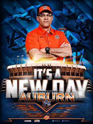 Auburn Tigers 2013 poster schedule