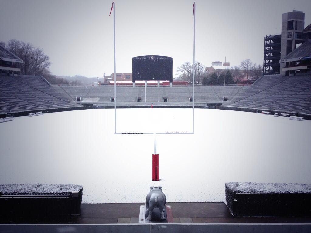Photos: 8 SEC Stadiums covered in snow - Saturday Down South
