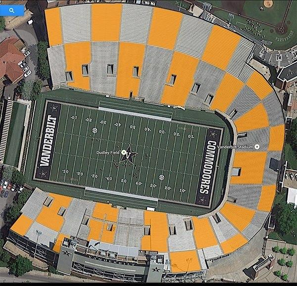 Tennessee Fans Attempting To Checker Vanderbilt Stadium