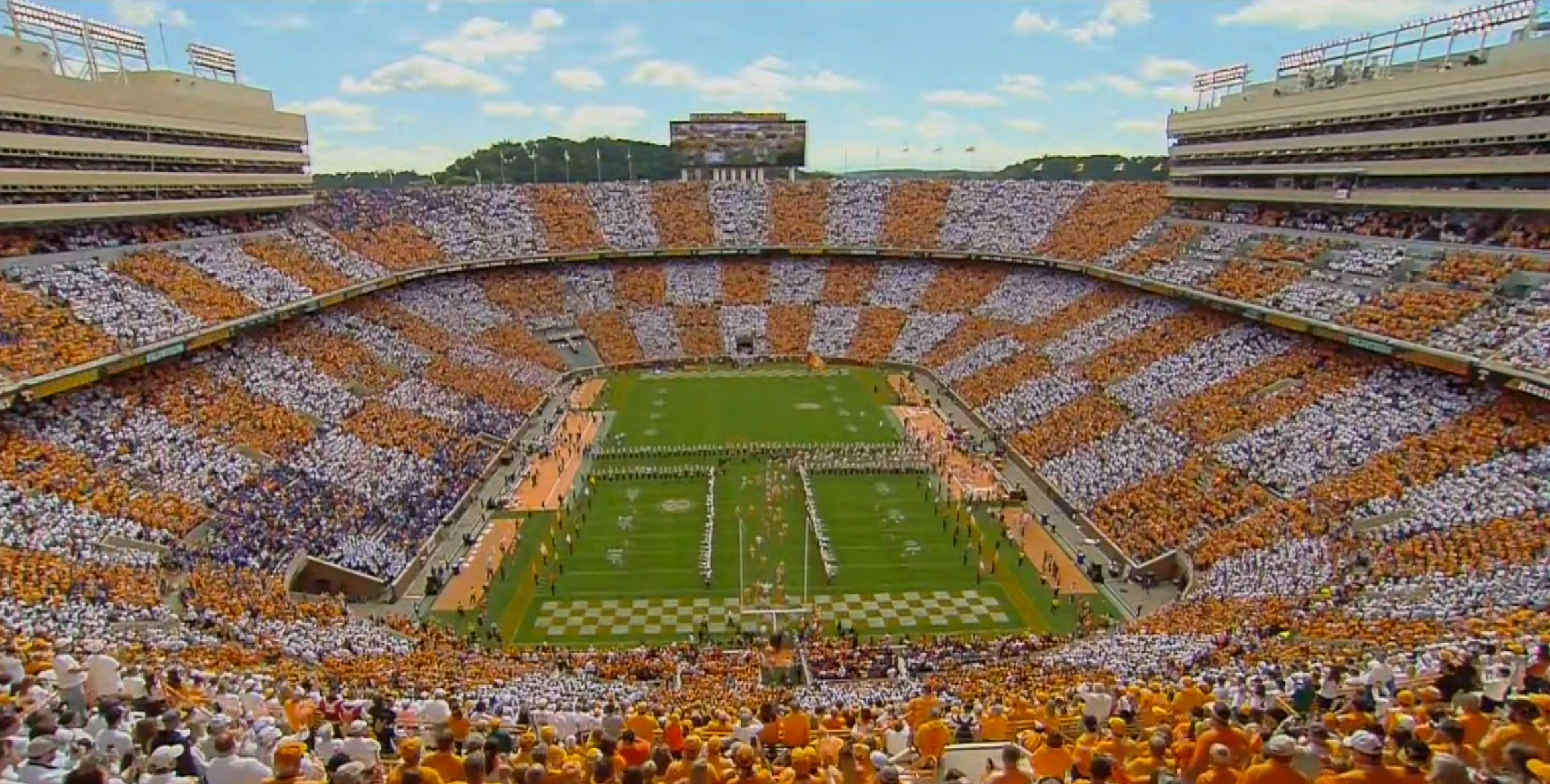 Tennessee fans successfully checker Neyland Stadium