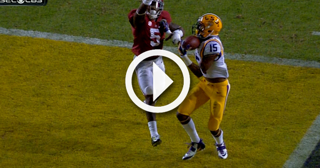 Malachi with one-handed a Dupre catch touchdown Video: