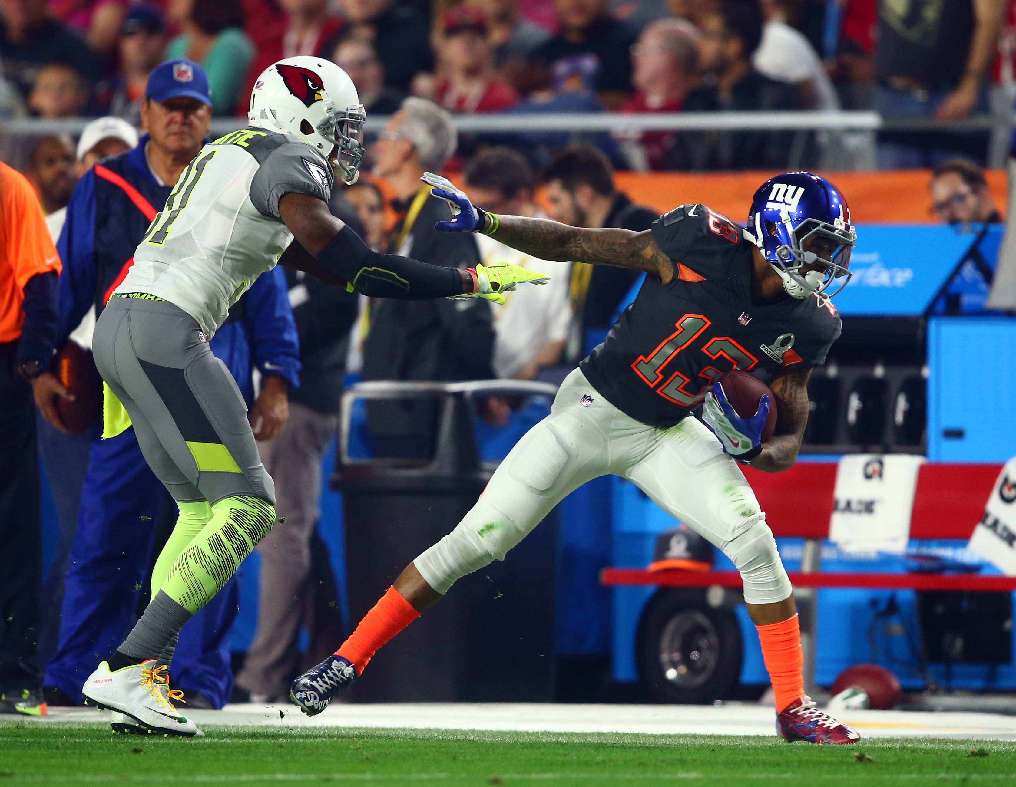 buy popular 9452b 6fd7e Video: Former LSU wideout Odell Beckham Jr. shows off at the ...