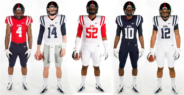 Ole Miss Uniform History