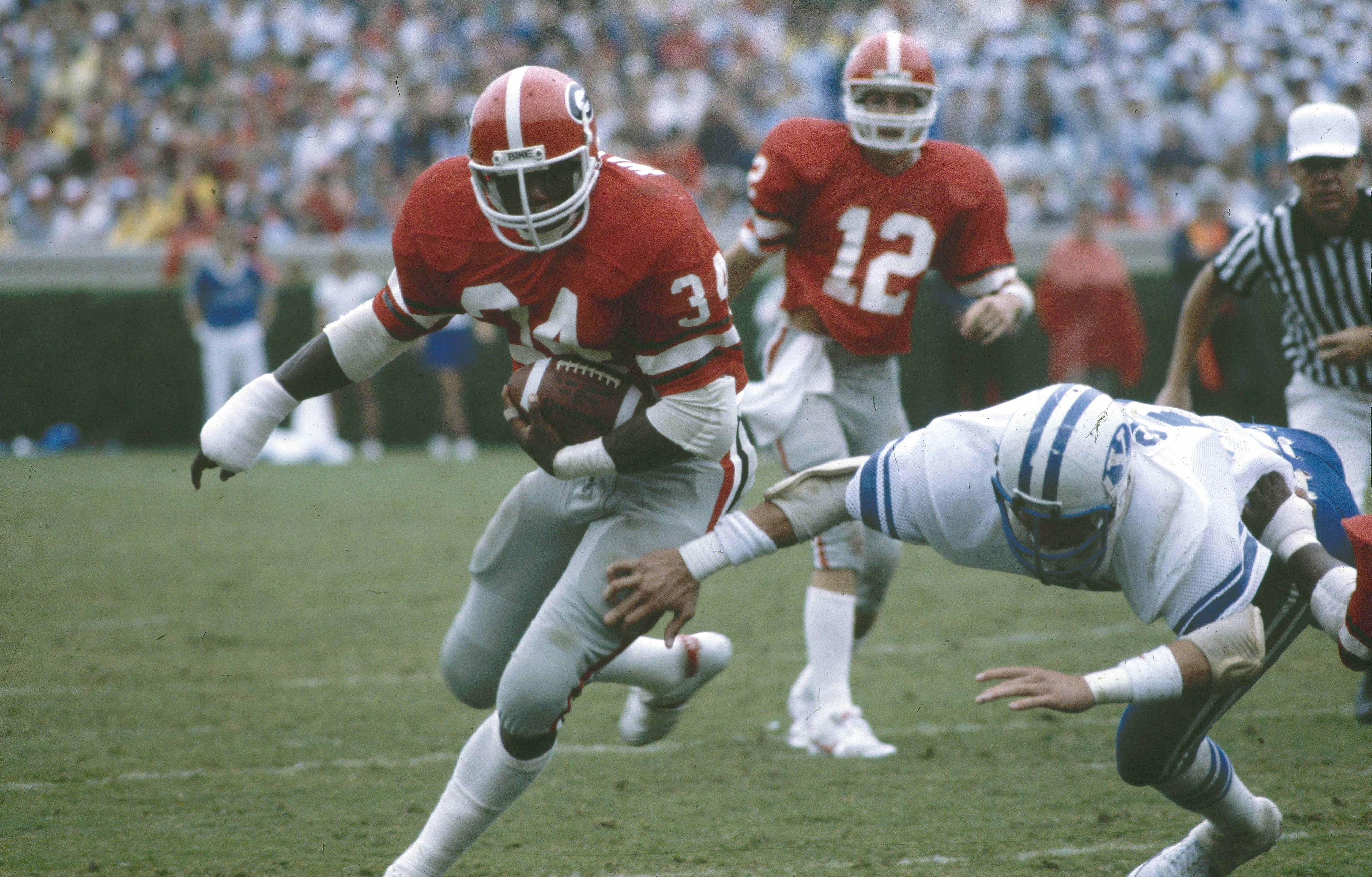 herschel walker Cbncom – herschel walker was one of the most powerful running backs in college and nfl history because of his combination of strength and speed he's one of the greatest in the game the 1982 heisman trophy winner spent 15 years in professional football but the side you may not know, is .