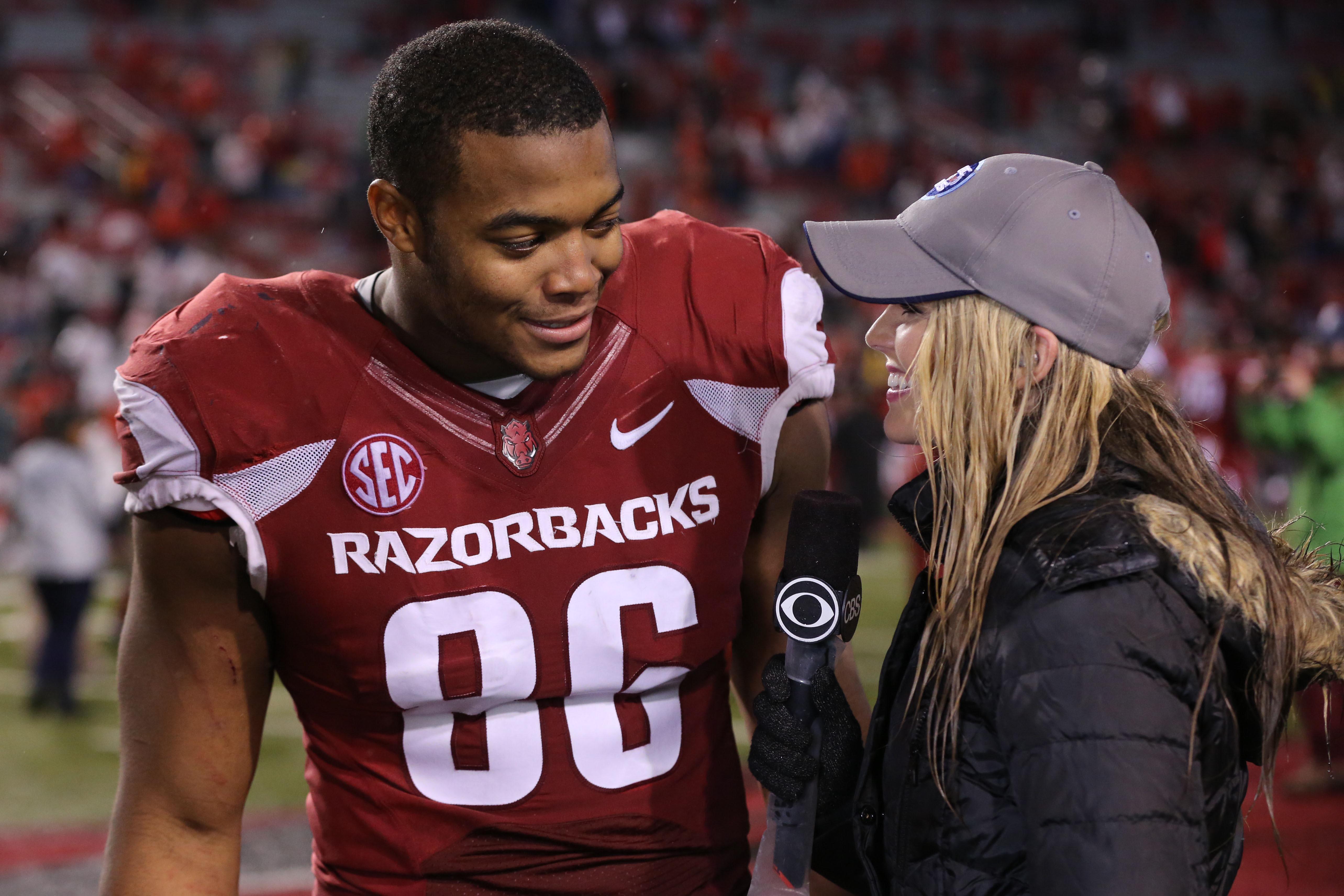Defending Super Bowl champs take Arkansas DE Trey Flowers