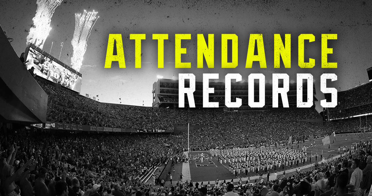 attendance record for every sec stadium