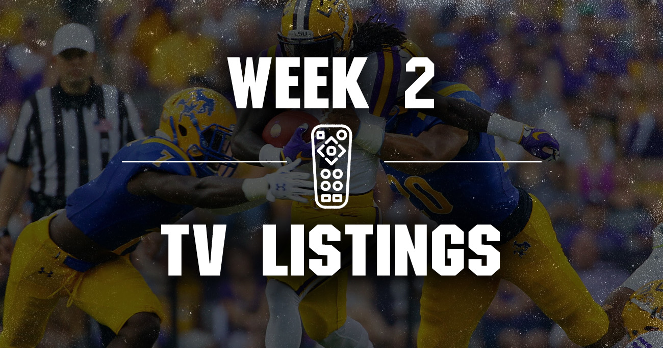 Today's SEC schedule, TV listings