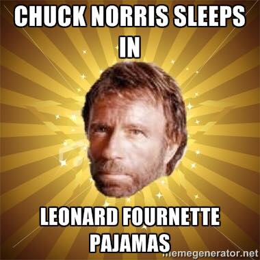 Fournette Chuck Norris MEME