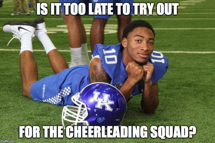Kentucky cheerleading MEME