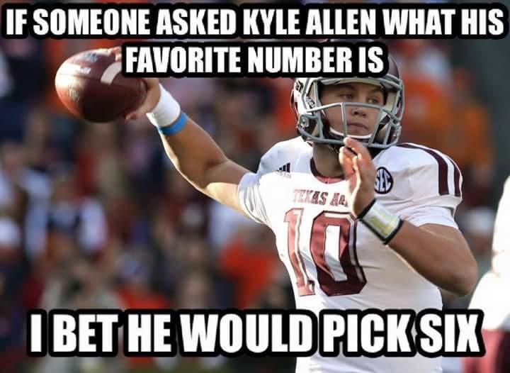 Kyle Allen Pick Six MEME