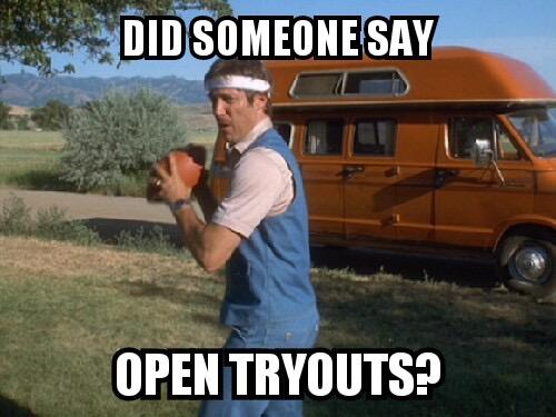 Open Tryouts MEME