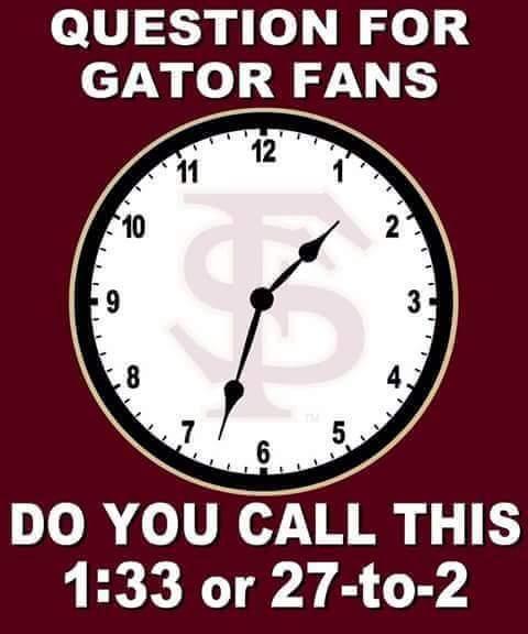 Gators Telling Time MEME