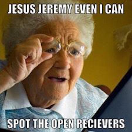 Jeremy Johnson Open Receivers MEME