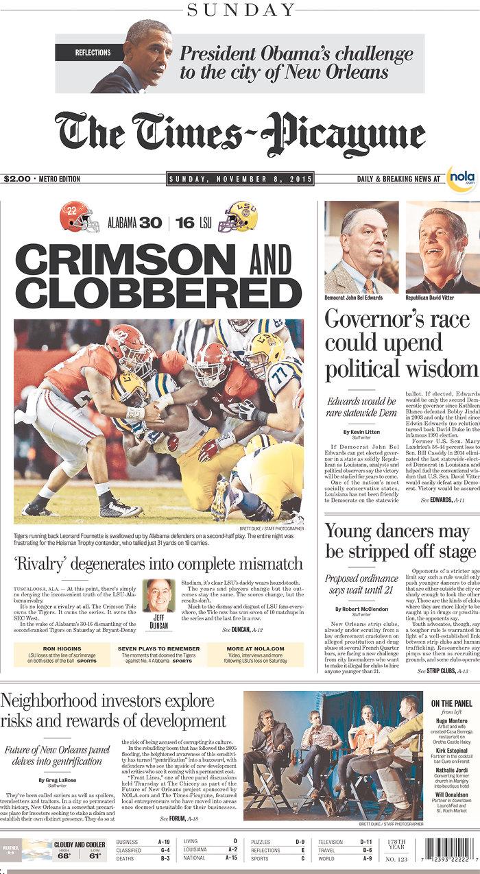 Louisiana Newspaper Headlines Capture The Worst Of Lsu Loss To Alabama