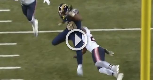 Video Todd Gurley Goes Superhuman Leaps Defender Inside