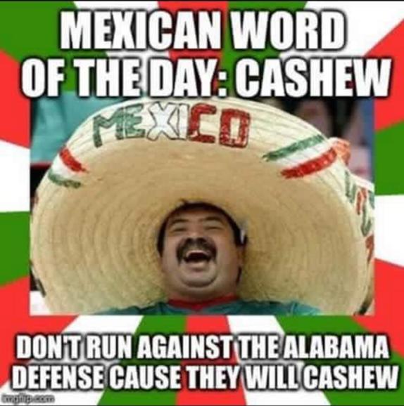 Alabama Cashew MEME