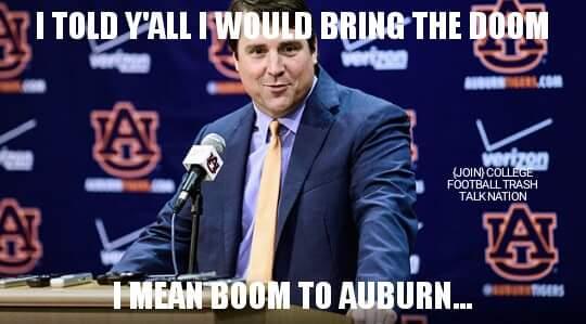 Doom Boom to Auburn MEME