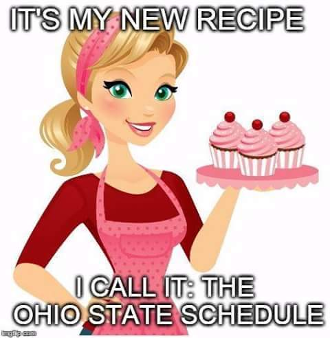OSU Schedule Recipe MEME