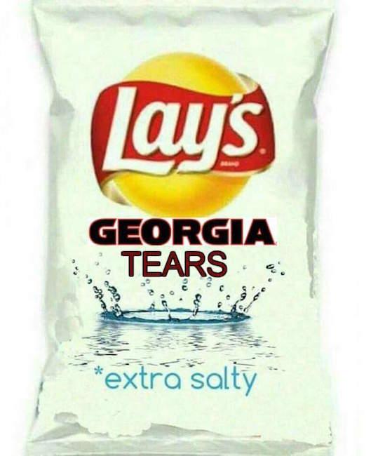 UGA potato chips MEME