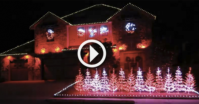 video family syncs christmas lights to yea alabama in impressive display