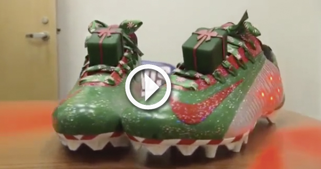Video: Odell Beckham Jr. sports outrageous Christmas cleats before ...