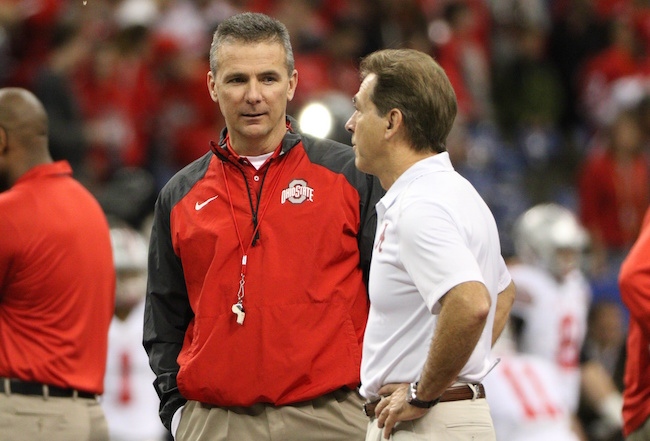 nick saban isn t the best according to urban meyer