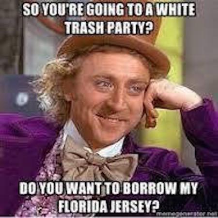 White Trash Party MEME