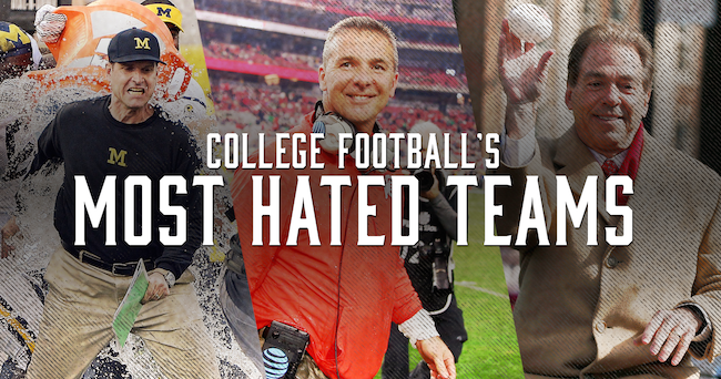 Most Hated Teams In College Football According To Reddit Map