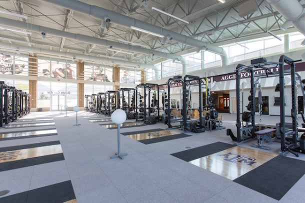 Aggies weight room