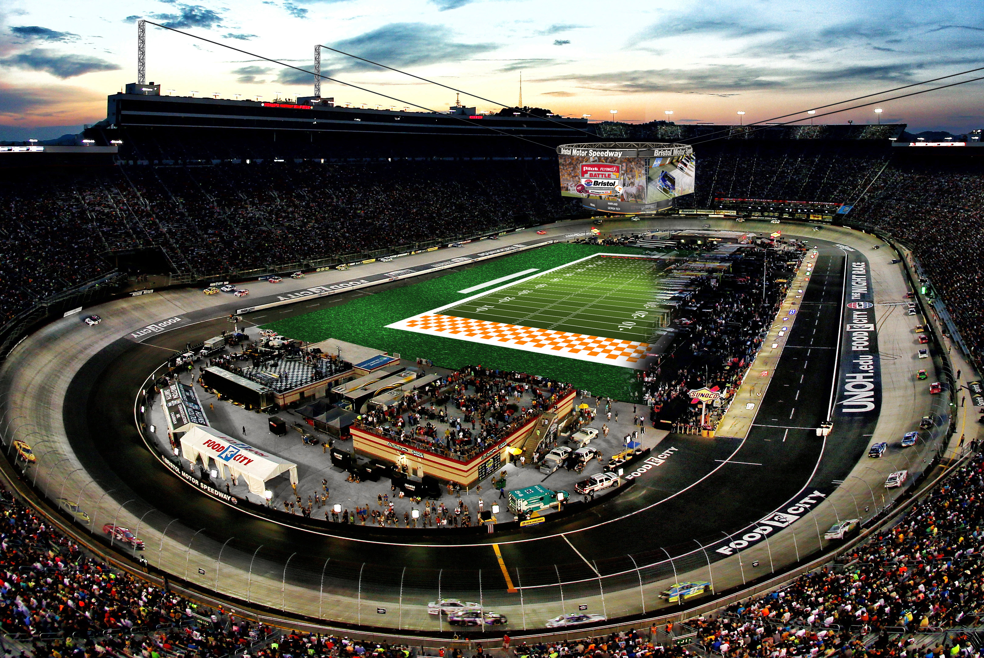 How Bristol Motor Speedway will become college football's biggest colosseum