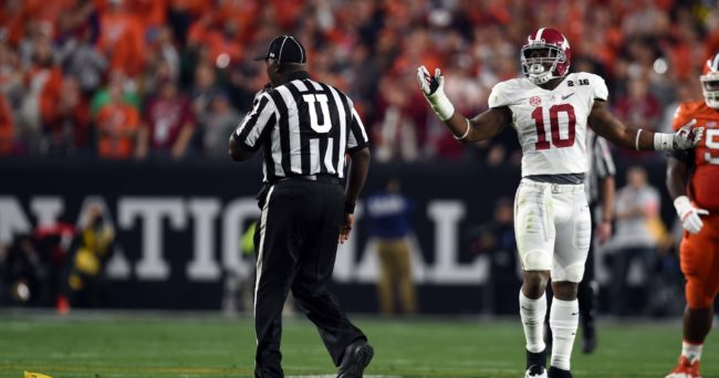 Nick Saban lends support to LB Reuben Foster