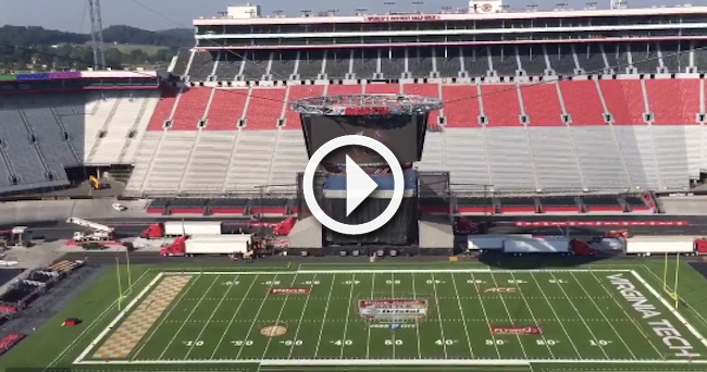 Video Panoramic View Of Bristol Motor Speedway For The