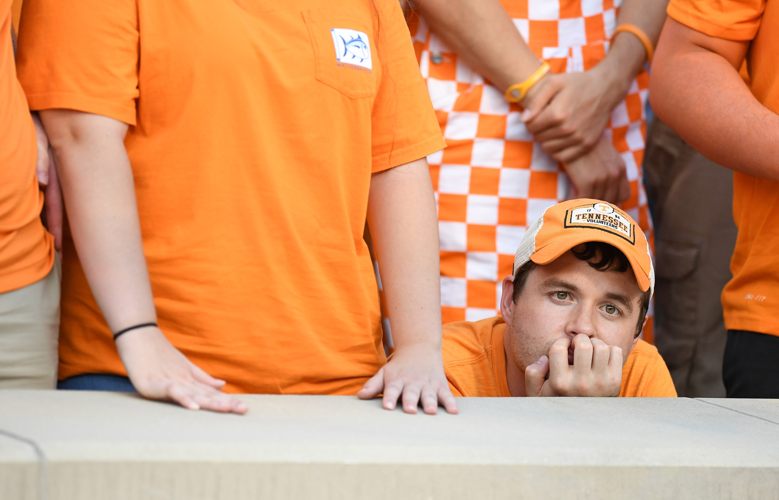 Oct 15, 2016; Knoxville, TN, USA; against the Tennessee Volunteers during the third quarter at Neyland Stadium. Mandatory Credit: John David Mercer-USA TODAY Sports