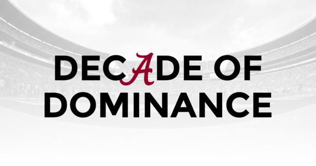 Decade of Dominance: Nick Saban vs  AP top 10 teams at Alabama