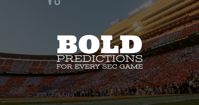 A bold prediction for each SEC game in Week 1