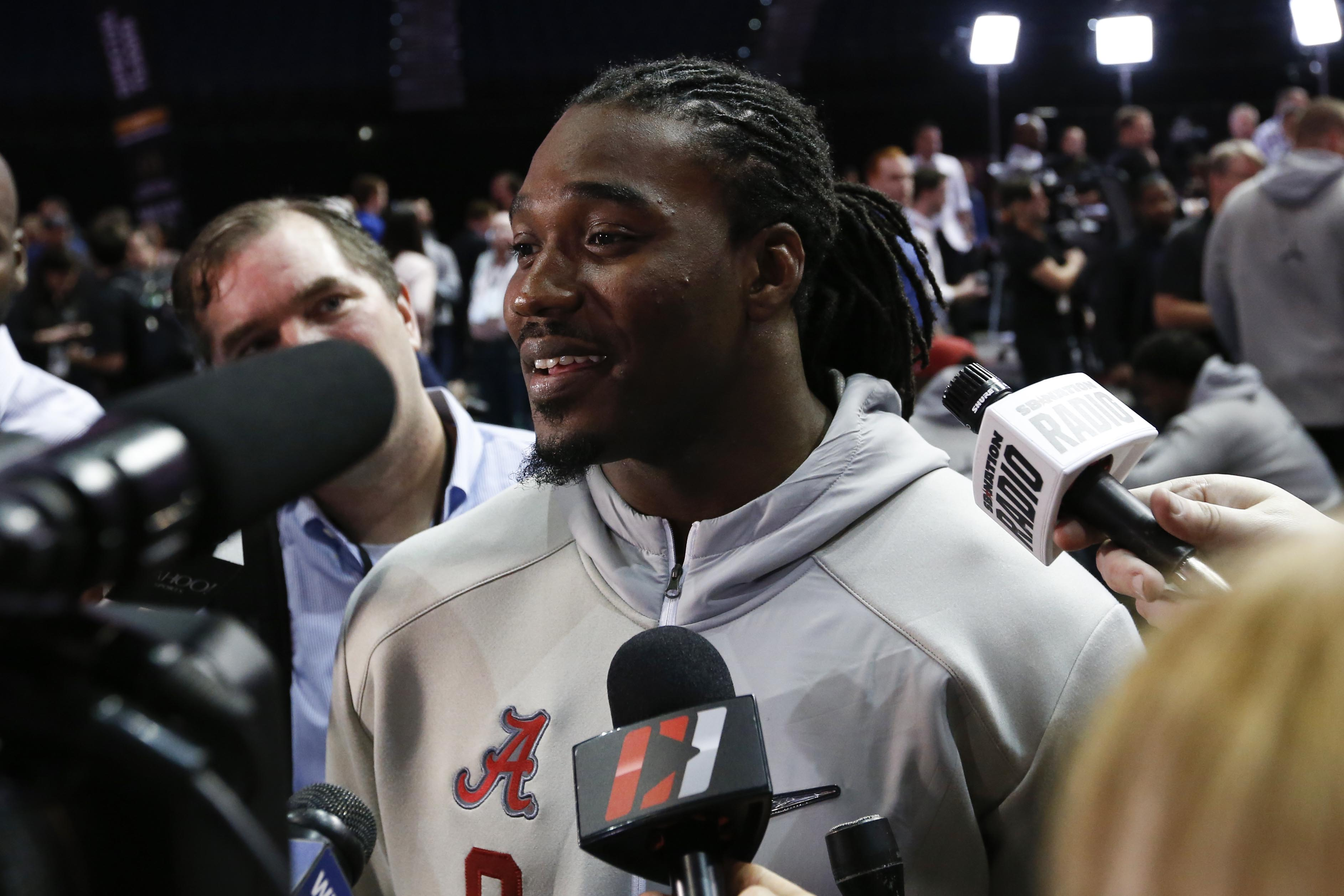 Draft eligible Alabama RB Bo Scarbrough ...