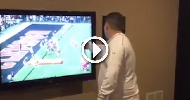 Video Angry Alabama Fan Destroys Tv After Clemson S Game