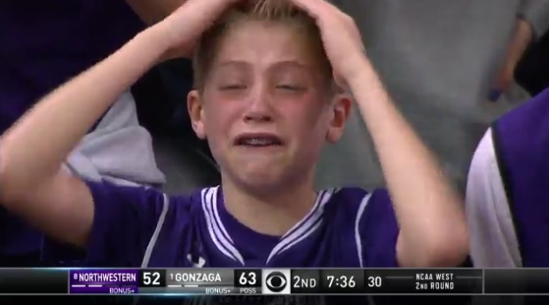 Northwestern Kid video young northwestern fan just became the biggest meme of the